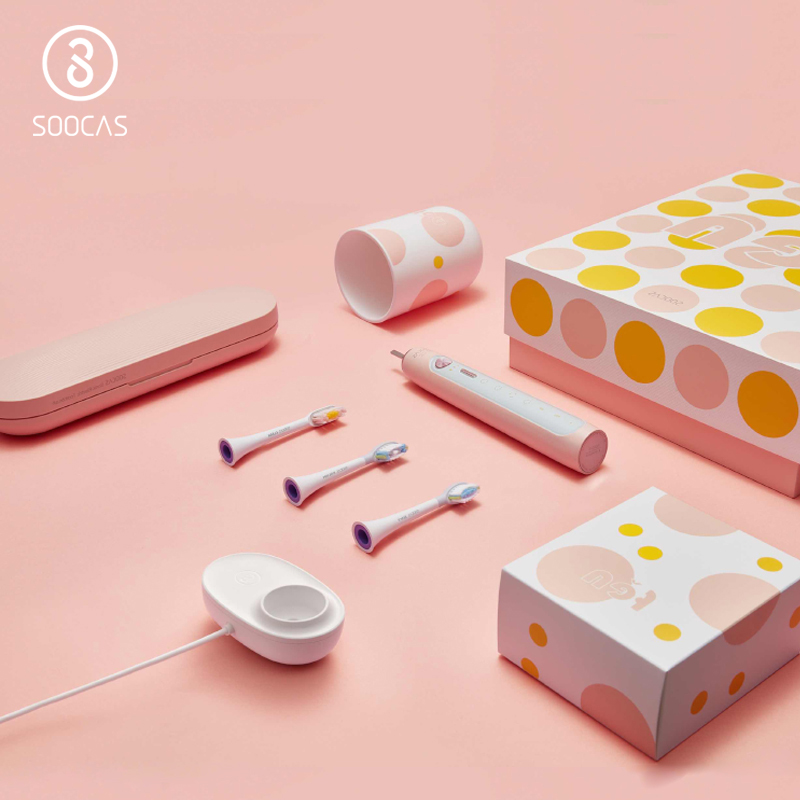 SOOCAS X5 Electric Toothbrush Xiaomi Mijia Ultrasonic Toothbrush Upgraded Adult USB Rechargeable 12 Clean Modes With