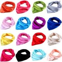 Женский, мужской, взрослый, прямоугольный, квадратный, маленький, атласный, однотонный шарф, платок, бандана, повязка на голову, на шею, повязка на голову, повязка на голову, маска для лица