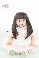 NPK 60 см Кукла реборн мягкий винил чучела тела реалистичные Bebe Reborn Bonecas дети играют игрушки Рождество подарок на день рождения куклы дом