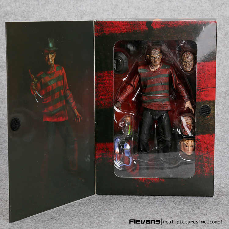 "NECA A Nightmare on Elm Street Freddy Krueger 30th PVC Action Figure Collectible Speelgoed 7 ""18 cm"