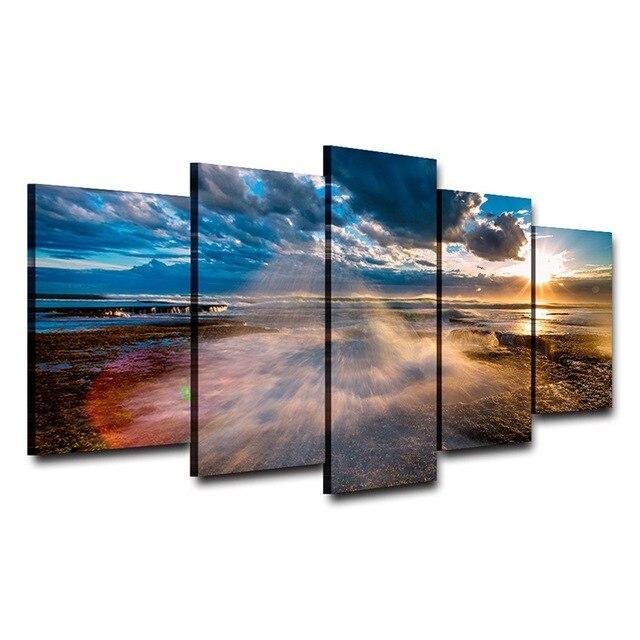 Toile de peinture artistique imprimée   Affiche murale HD, décor de maison, peinture encadrée de décoration pour chambre à coucher, affiche pour bord de mer AE0220