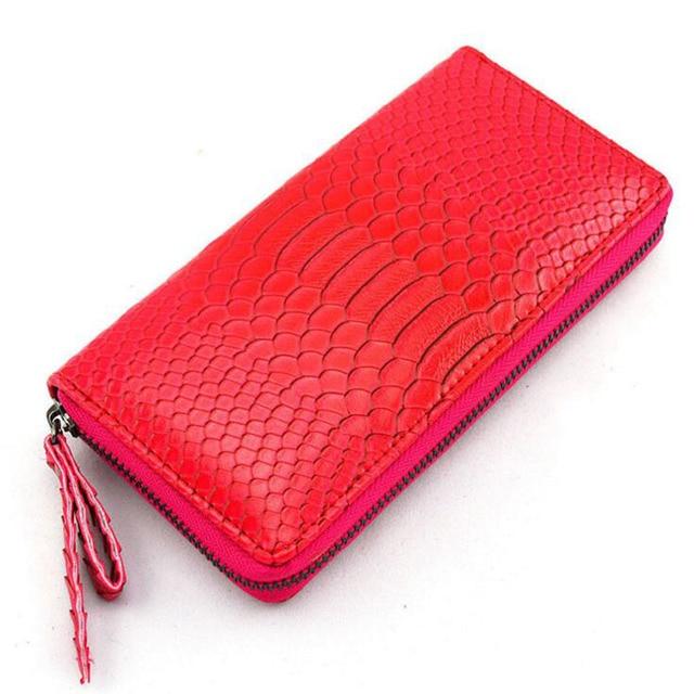 b29937c9bfd Marca de lujo de la Carpeta Larga de Las Mujeres Tipo Snakeskin Cuero de  Las Señoras ...
