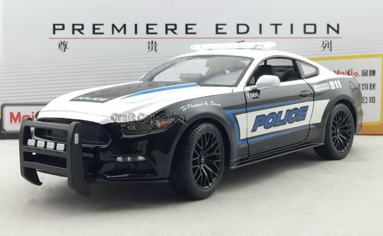 * Rare 1:18 FORD New MUSTANG GT Polic Car 2015 Sport Car Toys Muscle Car Brinquedos Diecast Mini Car