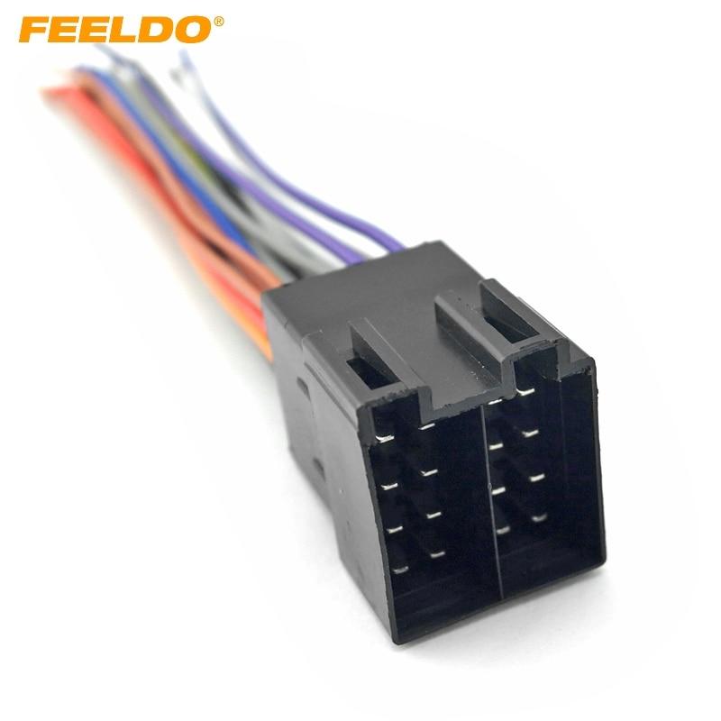 Feeldo 1pc Car Oem Audio Stereo Wiring Harness For