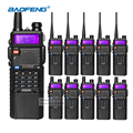 10 pcs baofeng uv-5r 3800 mah da bateria walkie talkie rádio em dois sentidos uv5r baofeng vhf uhf 136-174 mhz/400-520 mhz transceptor fm