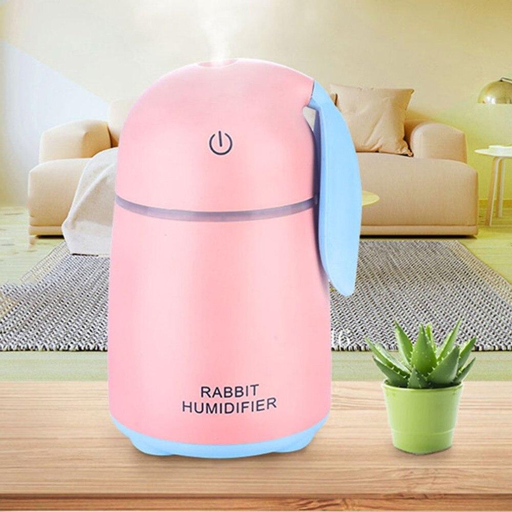 2018 New USB Mini Water humidifier Top Mist Diffuser Ultrasonic Air Humidifier Creative Cartoon Rabbit Car Atomizer Air Purifier