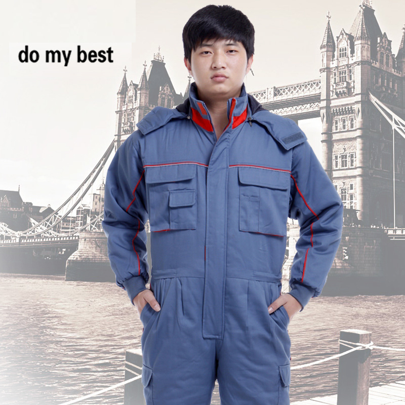 Warm Cotton Clothing Coveralls for Men and Women in Autumn and Winter, Work Clothes Jumpsuit AC-7333 цены
