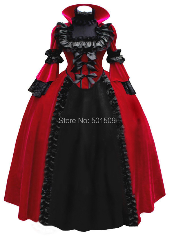 fan collar ruffles victoria gown medieval dress Renaissance gown queen costume Victorian Gothic/Marie Antoinette/ Belle Ball