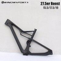 2019 New Product 27.5er Boost carbon MTB Frameset carbon size 15.5/17.5/19 mtb bike frame 148*12 29er full suspension mtb bike