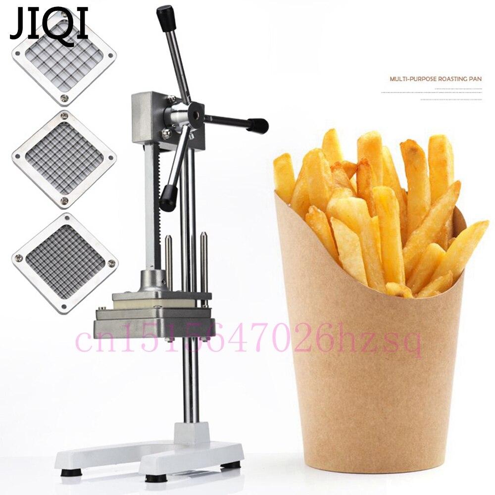 JIQI acier inoxydable maison frites coupe pommes de terre Chips bande légumes Machine à découper fabricant trancheuse Chopper avec 3 lames - 3