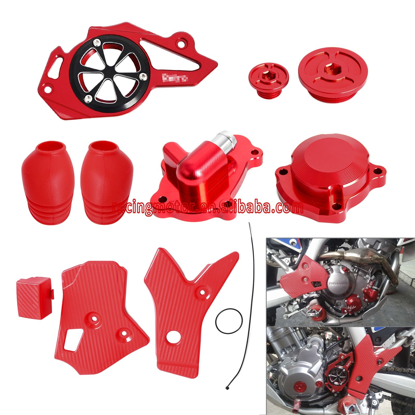 Modification Parts Water Pump Cover & Protect Cover & Oil Filter Cover & Others Bling Kit For Honda CRF250L CRF250M 2012-2015 yanmar parts the water pump thermostat type with reference 4tne88