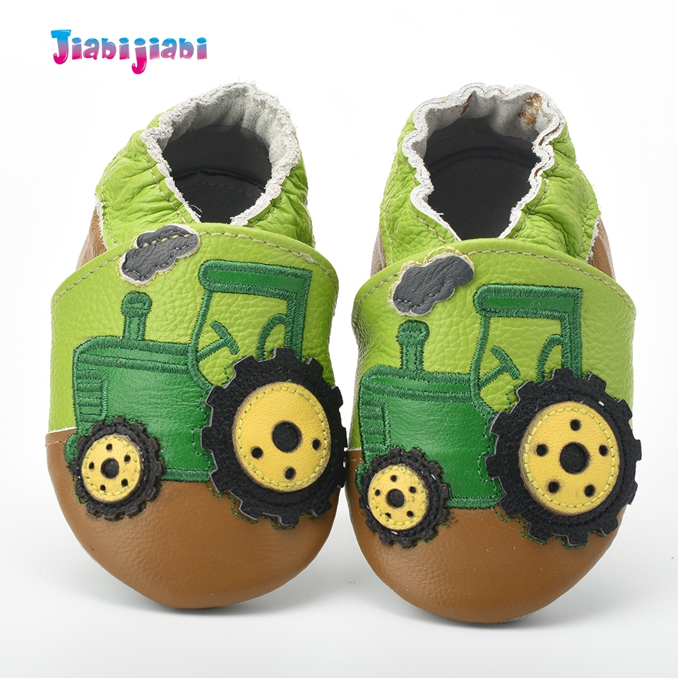 New Baby leather shoes boy cute tractor car shoes soft sole boy cartoon shoes todder first walker 6 styles for 0-2T