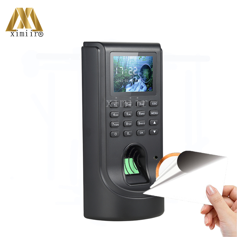 TCP/IP Biometric Fingerprint Time Attendance And Access Control System 1000 Users Door Access Controller With MF IC Card Reader