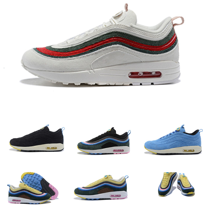 97 chaussures de course Sean Wotherspoon hommes femmes 1/97 Traners chaussure bleu clair FURY/citron Traners chaussure Sport Sneaker