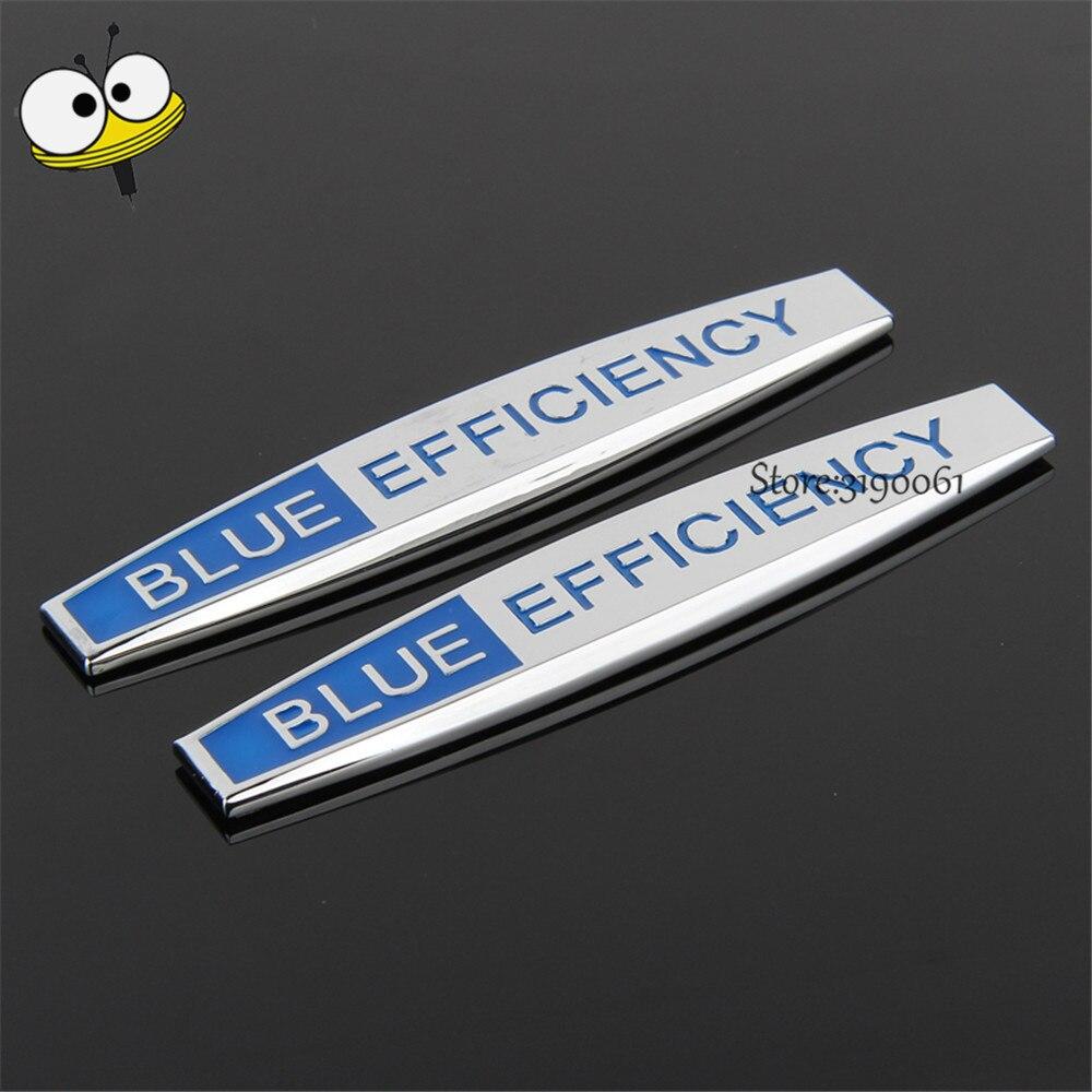 Car Fender Sticker Emblem Badge Car Accessories For Blue Effiency Logo For Benz W205 W211 SLC SLK GLC GLA GLK CLS W203 W204 E C