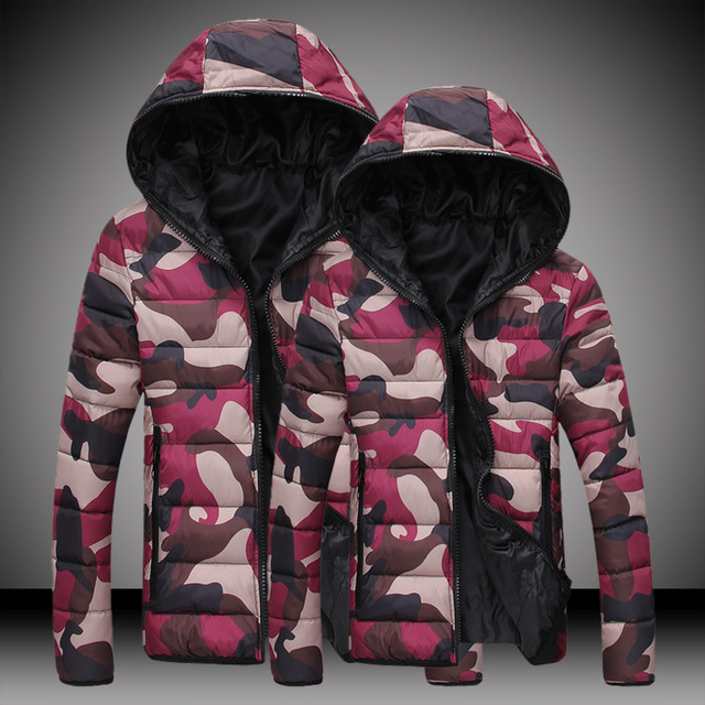 2016 NEW MENS cotton Thicken winter camouflage men Korean down jacket fashion S 3XL