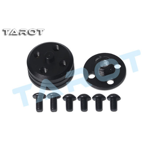 2Pcs Tarot Quick Install Dismantle Propeller Base TL68B35 Black Aluminum Alloy for Smaller than 4MM Motor Axis ...
