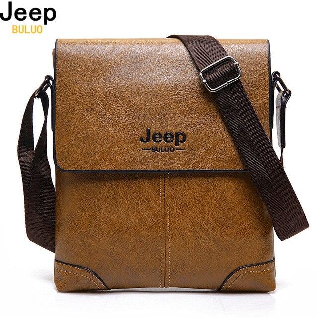 07c1e9f05abb JEEP BULUO бренд Для мужчин кожаные сумки Повседневное Бизнес сумка для мужской  моды высокое качество Hobos