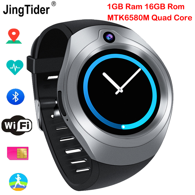 S216 Bluetooth Android Smart Watch 1GB/16GB MTK6580M Quad Core GPS Wristwatch Camera Heart Rate Monitor 3G Sim Wifi Pedometer