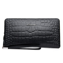 A Generation of Fat New Style Leather Men's Bag Leisure Embossed Crocodile Leather Men's Clutch Large Capacity Clutch Bag все цены
