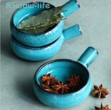 Керамическая посуда бытовые предметы 3 дюйма с ручкой блюда