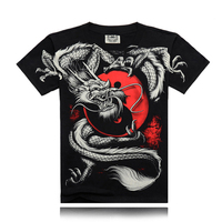 Summer Fashion Chinese Style T Shirt China Tai Chi Kung Fu T Shirt Dragon Rock Cotton
