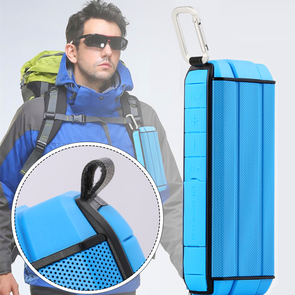 OLLLY Mini Outdoor Waterproof Wireless Stereo Speaker CSR Chip Bass Hands-free Speaker Support TF card for iPhone Samsung