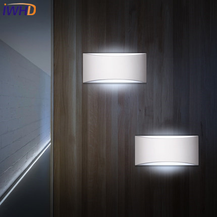 IWHD Nordic Style Modern Wall Light LED Creative Bedroom Iron Wall Lamp Simple Indoor Lighting Fixtures Sconce Lampara Pared simple art modern led wall light fixtures for home indoor lighting acrylic round wall sconces bedside wall lamps lampara pared