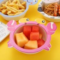 Детские еда кормление чаша бамбуковое волокно ребенок миски Детские мультфильм животных малыша обучение BPA бесплатно детские блюда