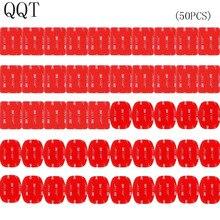 QQT 50 sztuk dla Gopro hero 5 4 3 + 3 2 SJ4000 czerwony 3 M VHB naklejki samoprzylepne 25 krzywa 25 płaski podwójny taśma klejąca montaż kask