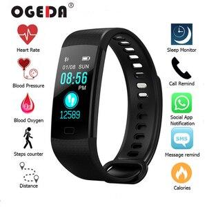 2019 ساعة ذكية النساء الرجال الرياضة اللياقة البدنية ذكي معصمه القلب معدل ضغط الدم اللون شاشة Reloj الرقمية موهير ساعة