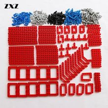 Bulk Building Blocks Bricks Technic Parts Liftarm Beam Connectors Pin MOC Car Bus Train Plane Accessories 370pcs