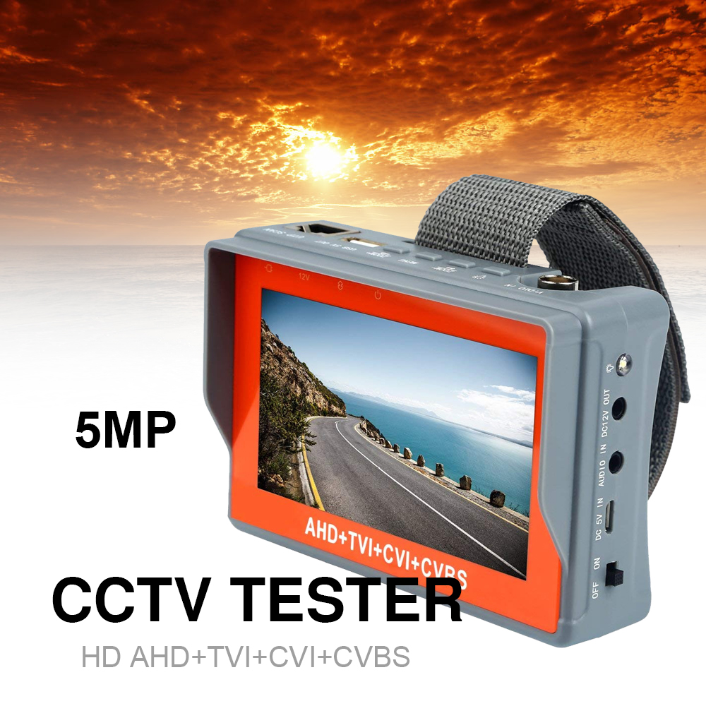 New 4.3 inch 5MP 1080P Camera Tester AHD TVI CVI Analog CVBS  in 1 CCTV tester Monitor Support UTP PTZ Audio test cctv testerNew 4.3 inch 5MP 1080P Camera Tester AHD TVI CVI Analog CVBS  in 1 CCTV tester Monitor Support UTP PTZ Audio test cctv tester