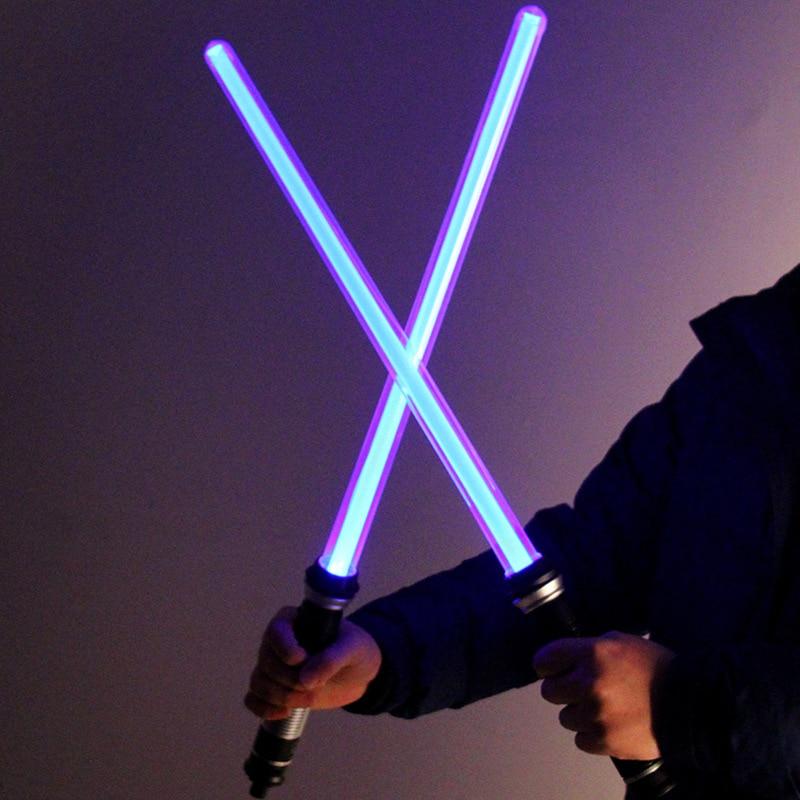Die Spielzeug Lieblings Star Wars Lichtschwert Präsentiert Die 7 Farbe Schwert licht 2 teile/sätze Weihnachten Geschenk jungen Geschenk