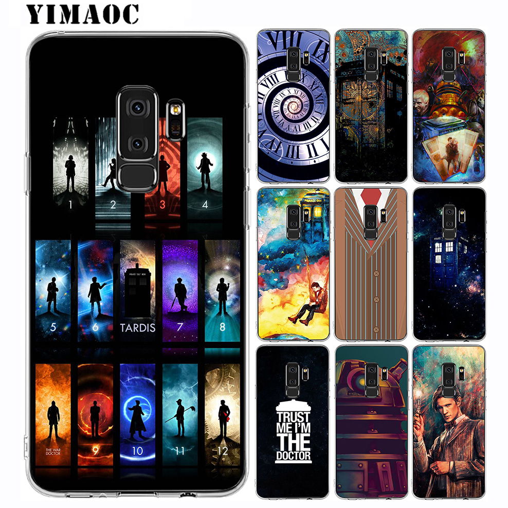 Tardis Box Doctor Who Hard Phone Cover For Samsung Galaxy S6 S7 Edge S8 S9 S10 Plus S10e Note 8 9 M10 M20 M30 Half-wrapped Case