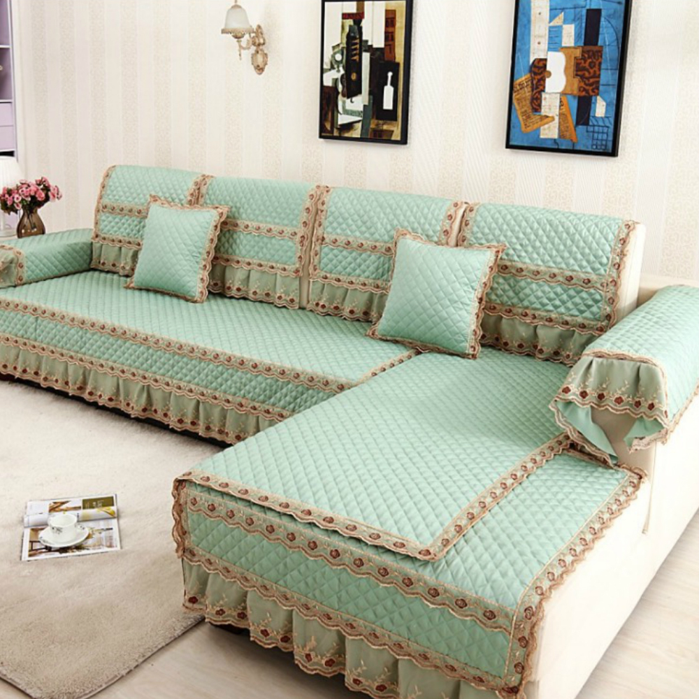 simple fashion all seasons universal non slip sofa towel cushion pillowcase 5 solid colors multi. Black Bedroom Furniture Sets. Home Design Ideas