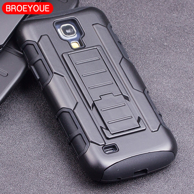 e1bab2deb0b BROEYOUE Case For Samsung Galaxy S4 Mini i9190 Armor Cases Shockproof High  Impact Hybrid Case Cover For S4 Mini Fundas Capa