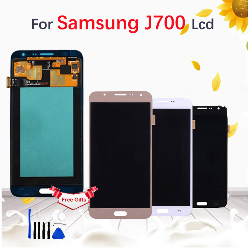 For SAMSUNG Galaxy J7 2015 J700 J700F J700M J700H LCD Display Touch Screen Digitizer Assembly Black White Gold