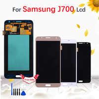 Para samsung galaxy j7 2015 j700 j700f j700m j700h display lcd tela de toque digitador assembléia preto ouro branco
