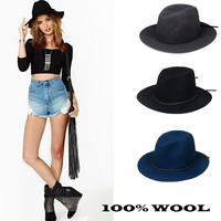 2015 New Fashion Women Men Wome 100 Wool Autunm Winter Fedora Hat Felt Panama Floppy Derby