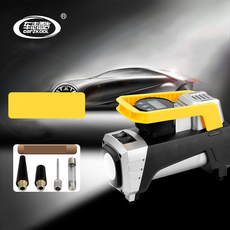 Digital Car Tire Inflator 15A 35L/min DC 12V Car Lighting Air Compressor for Car Motorcycles Bicycles Cigarette Lighter Plug 2 in 1 multifunction tire inflator air compressor w vacuum cleaner yellow dc 12v