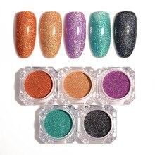 1 Box Holographic Colorful Shining Laser Nail Glitter Powder Ultra-thin Nail Dust Manicure Nail Art Glitter Powder