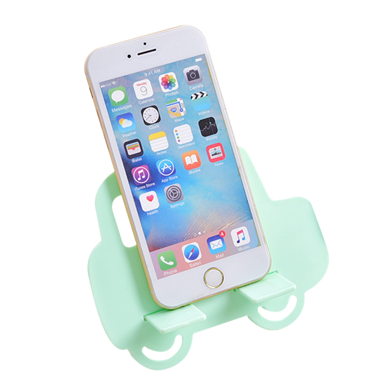 Desk Phone Holder Fashion Cute Car Shape Plastic Mobile Phone Rack Floor Type Small Stable For All Mobile Phones Creative Tools