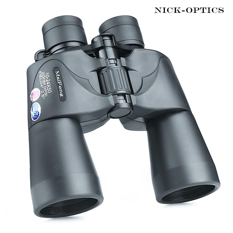 Binocular Olympus 10-24X50 Powerful Zoom for Hunting telescope Professional binoculars high definition nitrogen waterproof Бинокль
