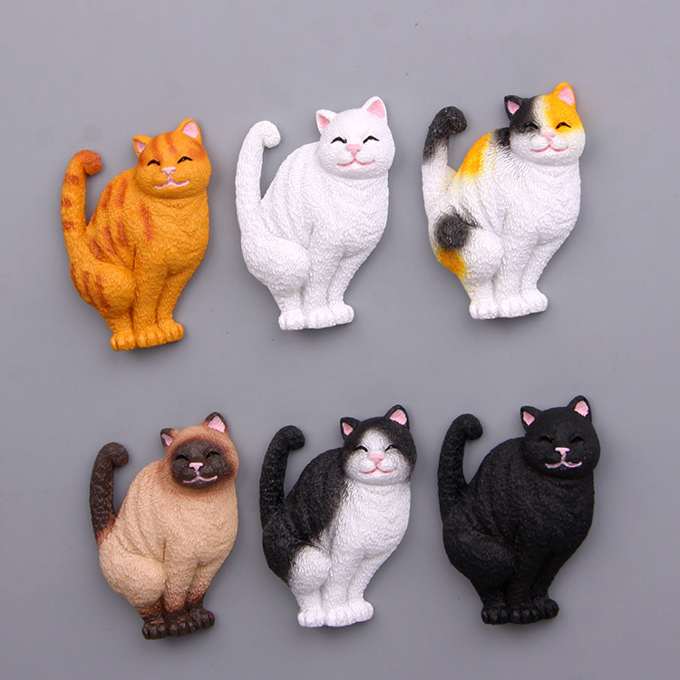 Delicious 2018 New Baby Boy Girl Toys Toilet Cat Cartoon Stereo Magnetic Buckle Refrigerator Stickers Action & Toy Figures Dolls