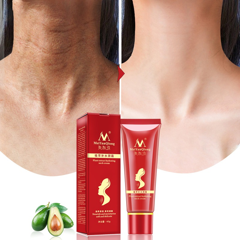 Reduce Double Chin Neck Cream Shea Butter Extract Hydrating Neck Cream Nourish Moisturizing Fade Fine Lines Neck Care P1S1