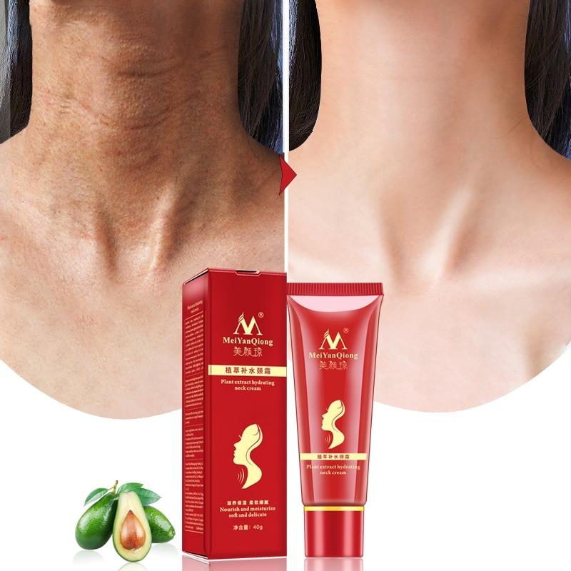 Reduce Double Chin Neck Cream Shea Butter Extract Hydrating Neck Cream Nourish Moisturizing Fade Fine Lines Neck Care P1S1