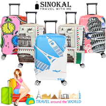 Luggage Cover Travel Suitcase Cover Dustproof Spandex Elastic Baggage Protector for 18-32  inch Trolley Case