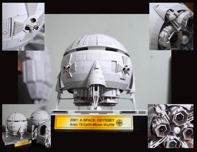 Aries 1 - B Spacecraft In 2001: A Space Odyssey - DIY 3d Paper Model