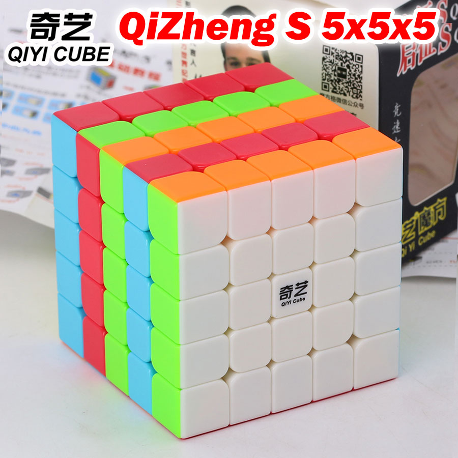 Puzzle Magic Cube Qiyi QiZheng S 5x5x5 5*5*5 Professional Speed Colorful Cube Educational Toys Gift Champion Competition Club